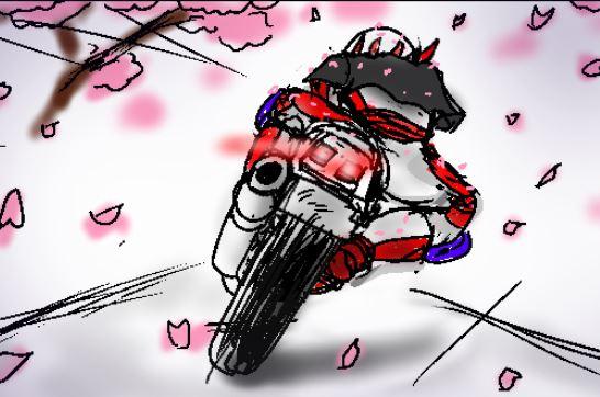 バイク 走り屋女子が見せる乙女の背中