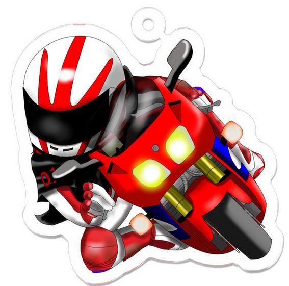 バイク用品店では手に入らないオリジナルのイケイケ爆走乙女キーホルダー